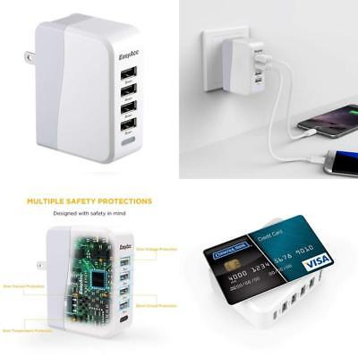 36W Multi 3Port USB Charger 7A Rapid Charging Station Travel Hub iPhone Android
