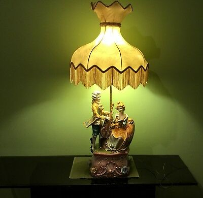 Antique Capodimonte porcelain lamp made in Italy, great gift 🎁😊