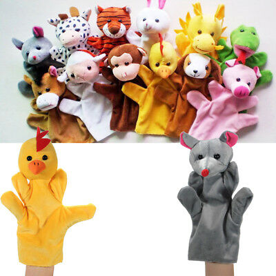 funny Animal Wildlife Hand Glove Puppets Soft Plush Kids Childrens Toy Gift cute