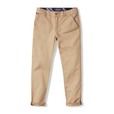 Boys Tan Chinos with Roll-up