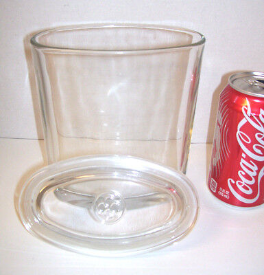 Colonial Candle Oval Glass Jar Container w/ Logo Lid Large 7x6