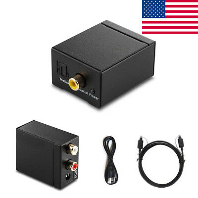 US~ Digital Optical Coaxial Toslink Signal to Analog Audio Converter Kit RCA L/R