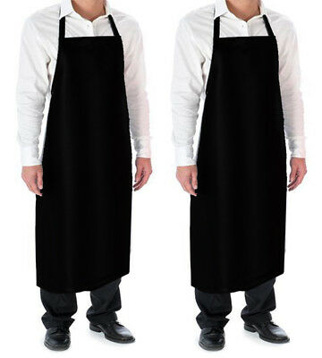 Vinyl Waterproof Aprons 2pack Ultra Lightweight Durable Adjustable Black Exended