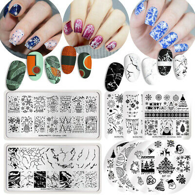 Nail Stamping Image Plate Nail Art Stencil Template Manicure DIY Born Pretty