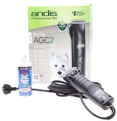 Andis AGC 2-speed Super-Duty Black Pet Clipper for all Dog Breeds