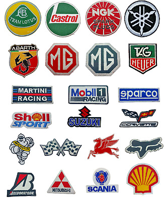 F1 Formula One RACE SPONSOR Patches - Iron-On Patch car logo sports