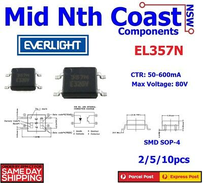 2/5/10pc EL357N Opto Photocoupler Everlight EL357N SMD SOP-4 Replaces (TLP181)