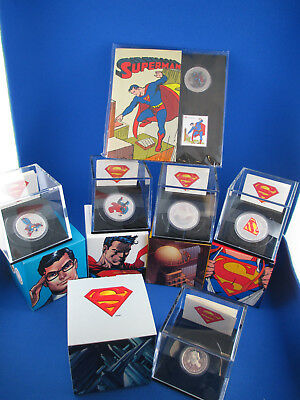 2013 75th Anniversary of Superman Commemorative 6-Silver Coin Collection. SUPERB