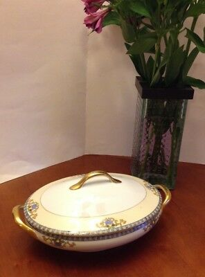 """Vintage MEITO CHINA *MEI 579* 7.75"""" Round  Covered Serving Vegetable Bowl MINT"""