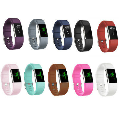 Replacement Rubber Silicone Band Strap Wristband Bracelet For Fitbit Charger 2