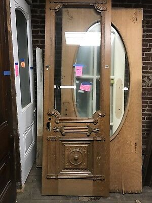 "Awesome Victorian Enrty Door Carved Door 32""x95"" Oak Door"