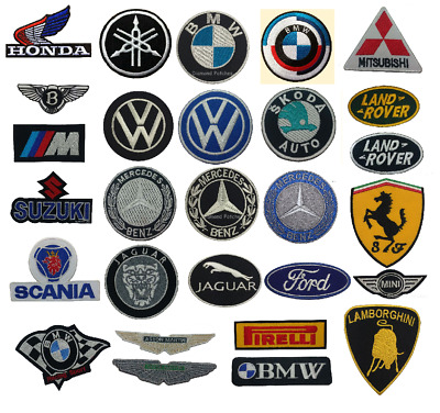 MOTOR RACING CAR BRAND FORMULA 1 RACING  - Iron-On Patch car logo sports