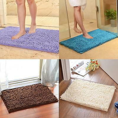 1/2Pcs Nonslip Memory Foam Absorbent Bath Bathroom Kitchen Floor Shower Rug Mat