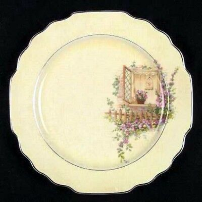 RARE antique DINNER PLATE Breakfast Nook W S George LIDO CANARYTONE  BIRDCAGE 4