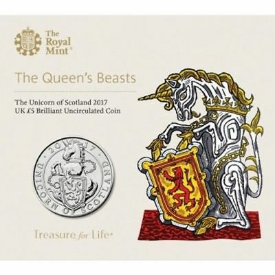 5 Pfund 2017 Queens Beasts Unicorn Of Scotland Blister