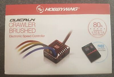 Hobbywing QuicRun Crawler Waterproof Brushed 80A ESC Program Card XT60 Plug