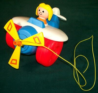 1980 Fisher Price Airplane Pull Toy - #171 - VGC