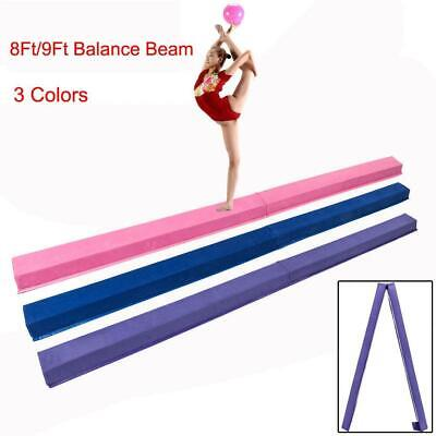 Balance Beam 8Ft/9Ft Extra Long Folding Gymnastic Equipment for Teens Kids Skill