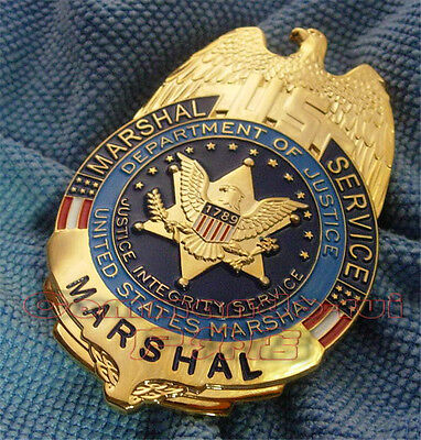 New United States Metal Badge Marshals Service US Department of Justice Badge