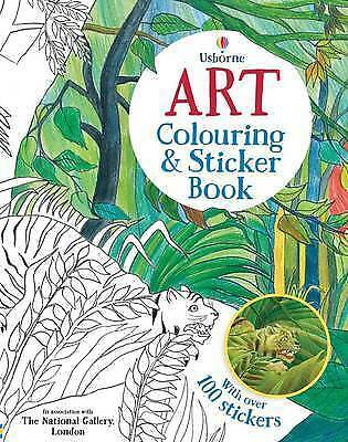 Usborne Art Colouring and Sticker Book by Rosie Dickins NEW (Paperback, 2015)
