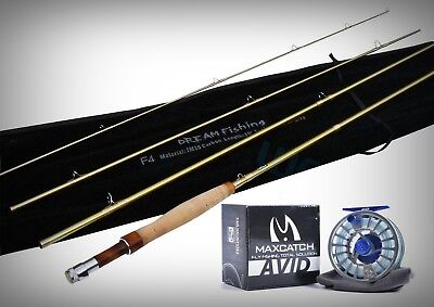10ft 6/7Wt Saltwater Fly Fishing Combo F410 IM10 Rod+ Pre Spooled Avid 7/8 Reel