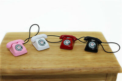 1:6 Scale BJD mini Home wired telephone Dollhouse Miniature Toy Doll Food Kitche
