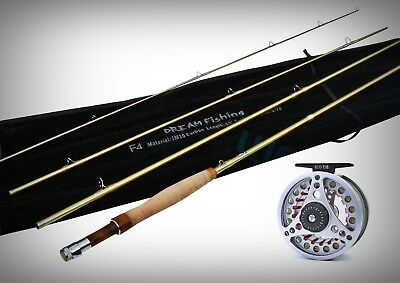 10ft 6/7Wt Fly Fishing Combo IM10 Rod + Pre Spooled Large Arbor 7/8Wt Fly Reel