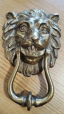 Vintage brass Lions head door knocker