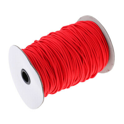 3mm Strong Red Elastic Round Bungee Rope Shock Cord Tie Down Boat Kayak Tent