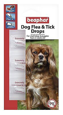 Beaphar Flea And Tick Drops Spot On 12 Week Protection Treatment Small Dog