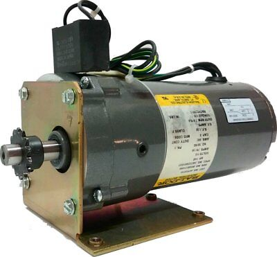 Baldor Electric Motor 115v (9.4) 9 RPM .025HP Parallel Shaft GearMotor TENV PSSH