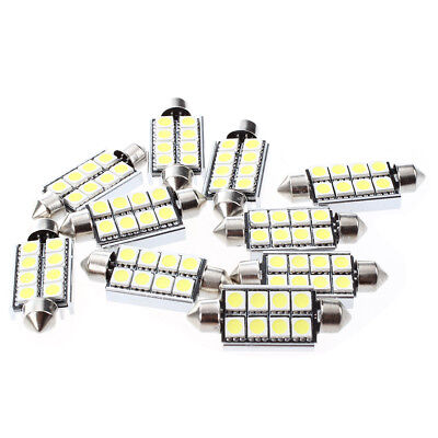 10 x Soffitte C5W 8 SMD 5050 LED 42MM Weiss CANBUS Innenraum Lampe Licht D5E4