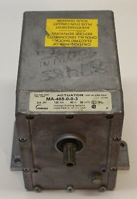 MA-405-0-0-3 INVENSYS OIL SUBMERGED ACTUATOR 120v USED