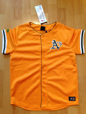 Majestic MLB Trikot Oakland Athletic A´s Gr. 158/166 gelb Jersey Baseball