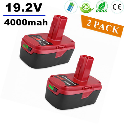 2 Pack 19.2V 4000mAh Lithium-Ion Battery for Craftsman C3 19.2Volt 11375 Tool HO