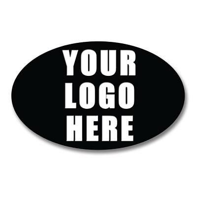 Oval Personalised Business Company Name Logo Labels Stickers Thank You Seals