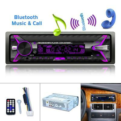 Bluetooth Car Autoradio Stereo MP3/USB/SD/AUX-IN FM Radio Player Amplifier 1 DIN