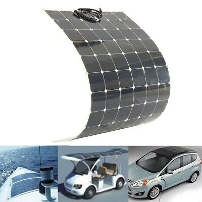 AUSTOCK 200W 18V Semi Flexible Solar Panel For Battery Charging Boat Caravan Mot
