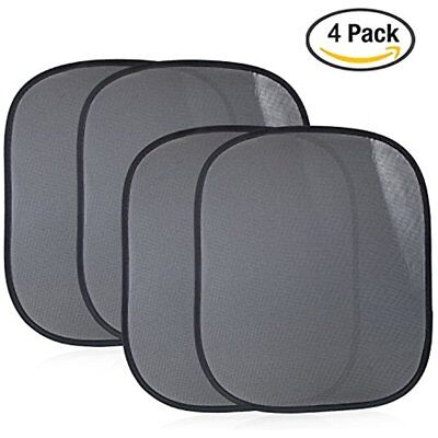 4-PackCar Window Hardware Sun Shade, Static Cling Protectors Against Sunlight UV
