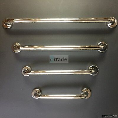 Support Bar Chrome Coated Metal Handle Shower Bath Safety Grip Rail Grab