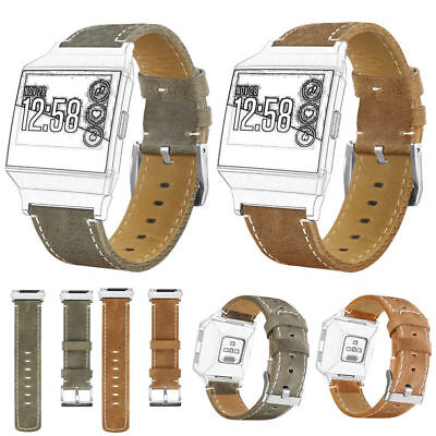 For Fitbit Ionic Vintage Replacement Leather Wrist Watch Band Strap Bracelet New