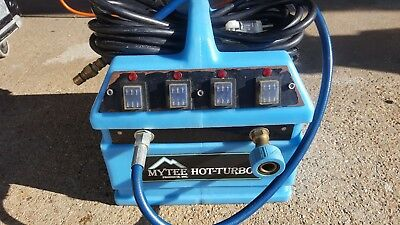 USED WORKING MYTEE HOT-TURBO HEATER (2400w) CARPET CLEANING EXTRACTORS 240-120