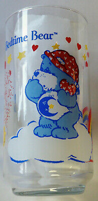 CHEER BEAR care bears VINTAGE GLASS AGC Calinours / verre calinours bisounours