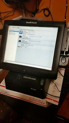 "USED POS StealthTouch M5 Point of Sale 15"" Touchscreen - Card Reader, Printer"