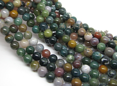 Natural Indian Agate Gemstone Round Spacer Loose Beads 4mm 6mm 8mm 10mm 12mm