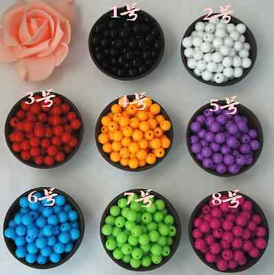 Smooth Ball Spacer Pastel Color Acrylic Round Loose Beads 4mm 6mm 8mm 10mm 12mm