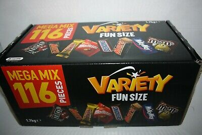 Mars GIANT VARIETY BOX 116 Mini Bars 1.7kg Box