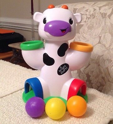 Bright Starts Having A Ball Drop & Giggle Cow: Fine Motor Skills, Cause & Effect