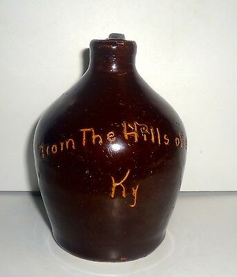 From The Hills of Old Ky Small Hand Thrown Brown Jug Bybee Cornelison