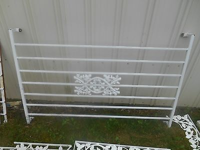 """Pair Vintage Wrought Iron Ornamental Porch Section ~ Architectural Salvage 55"""""""